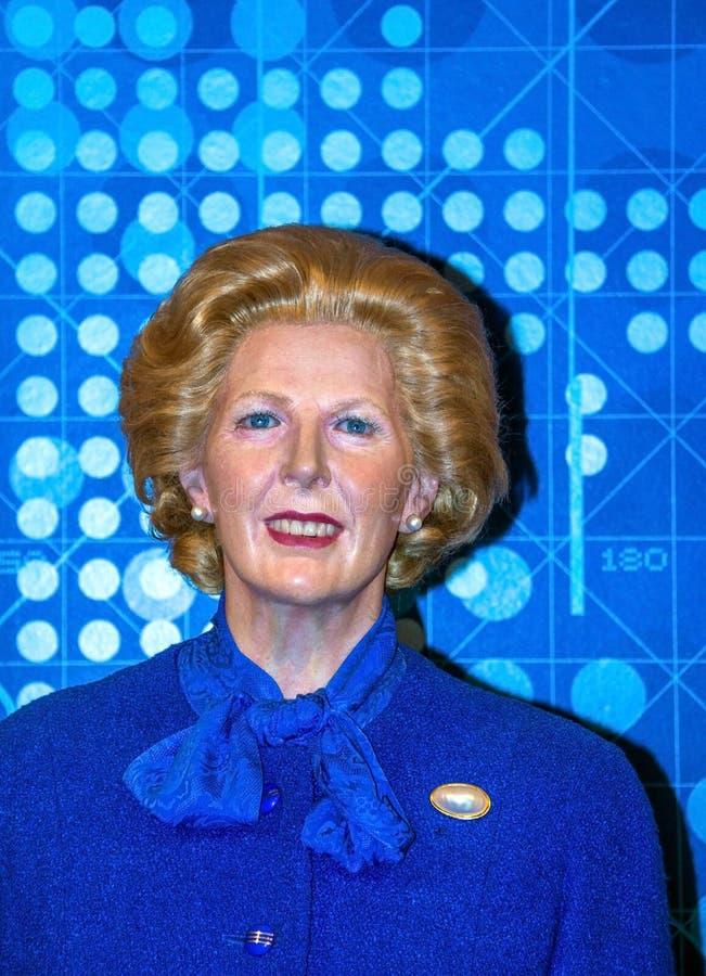 伦敦杜莎夫人蜡象馆蜡博物馆的总理玛格丽特・撒切尔 库存照片