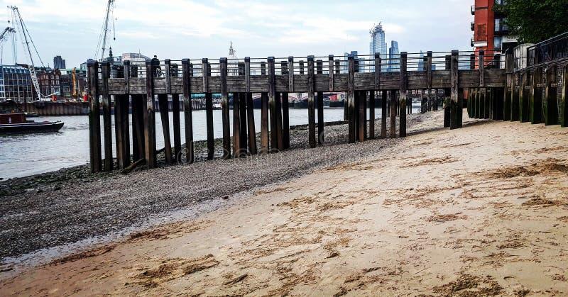 伦敦海滩 免版税库存照片