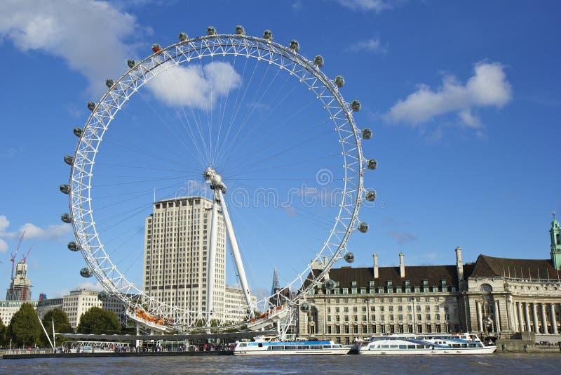 伦敦眼睛,伦敦 免版税库存图片