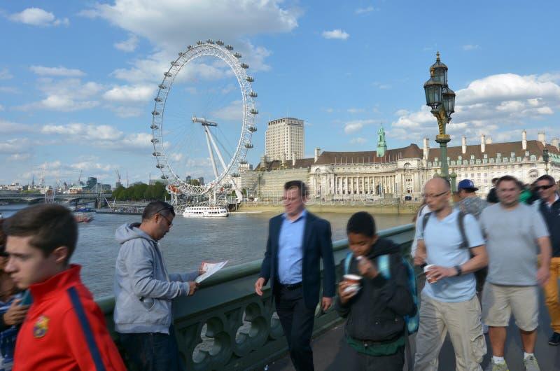 伦敦眼-伦敦英国 库存照片