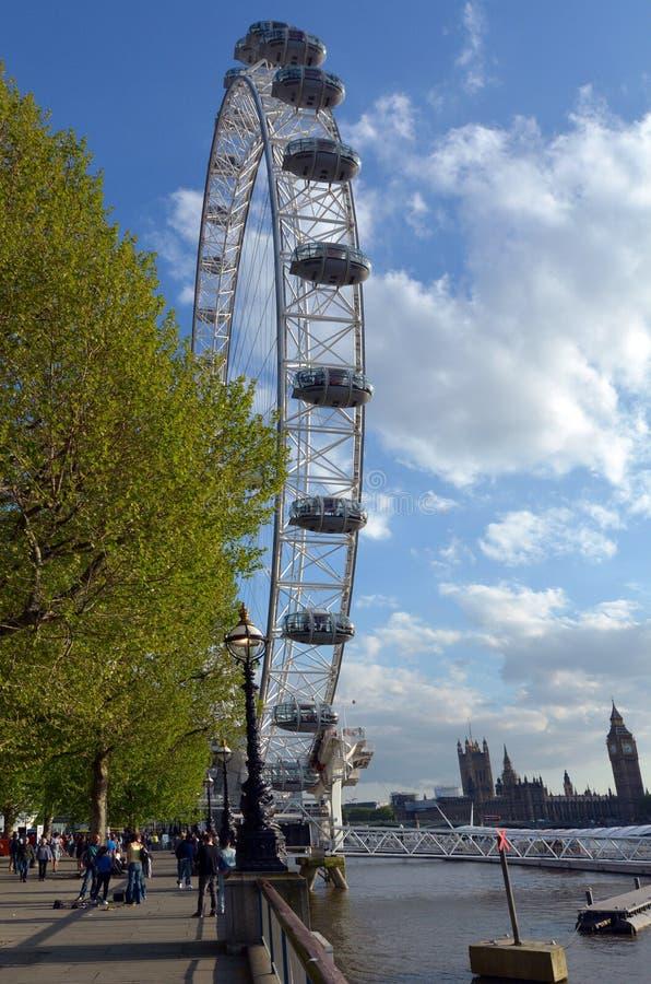 伦敦眼-伦敦英国 图库摄影
