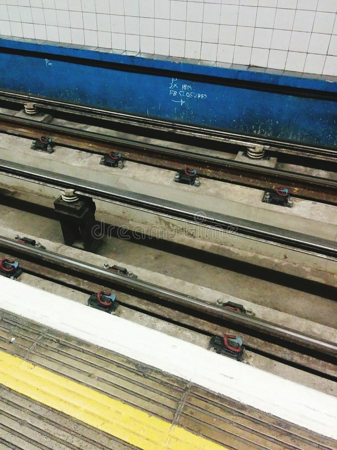 伦敦管轨道 库存图片