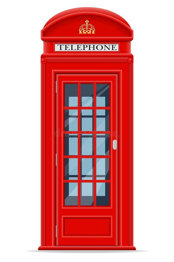 伦敦红色电话亭传染媒介例证 皇族释放例证