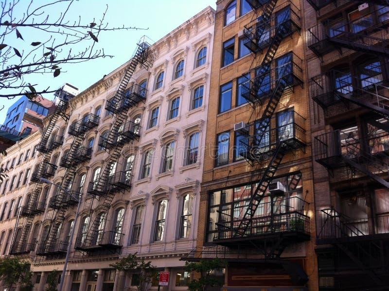 伦敦苏豪区大厦门面,纽约 库存照片