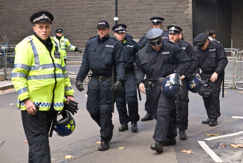伦敦警察暴乱 免版税库存照片