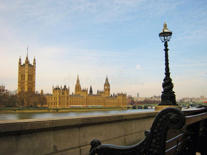 伦敦议会大厦 免版税库存照片