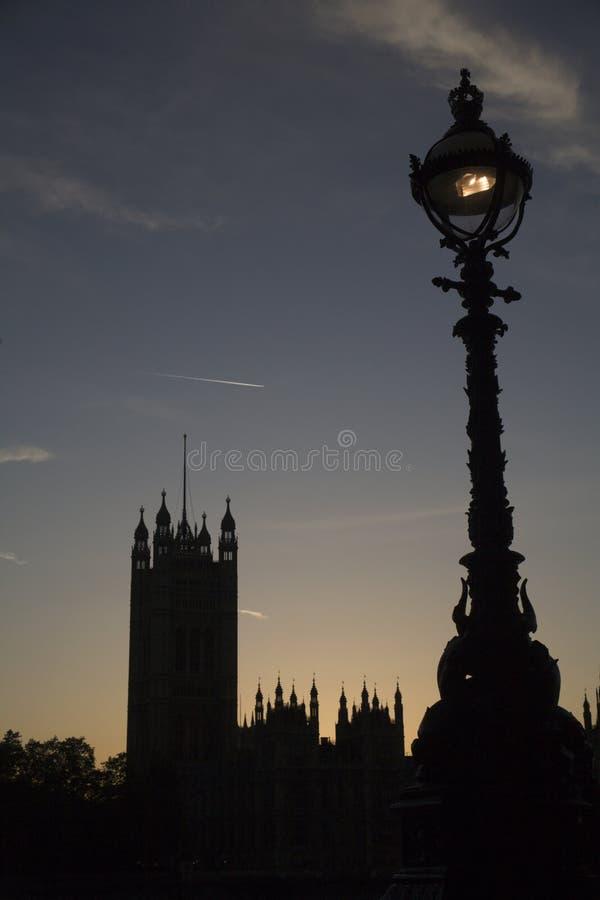 伦敦议会silhuette 免版税库存图片