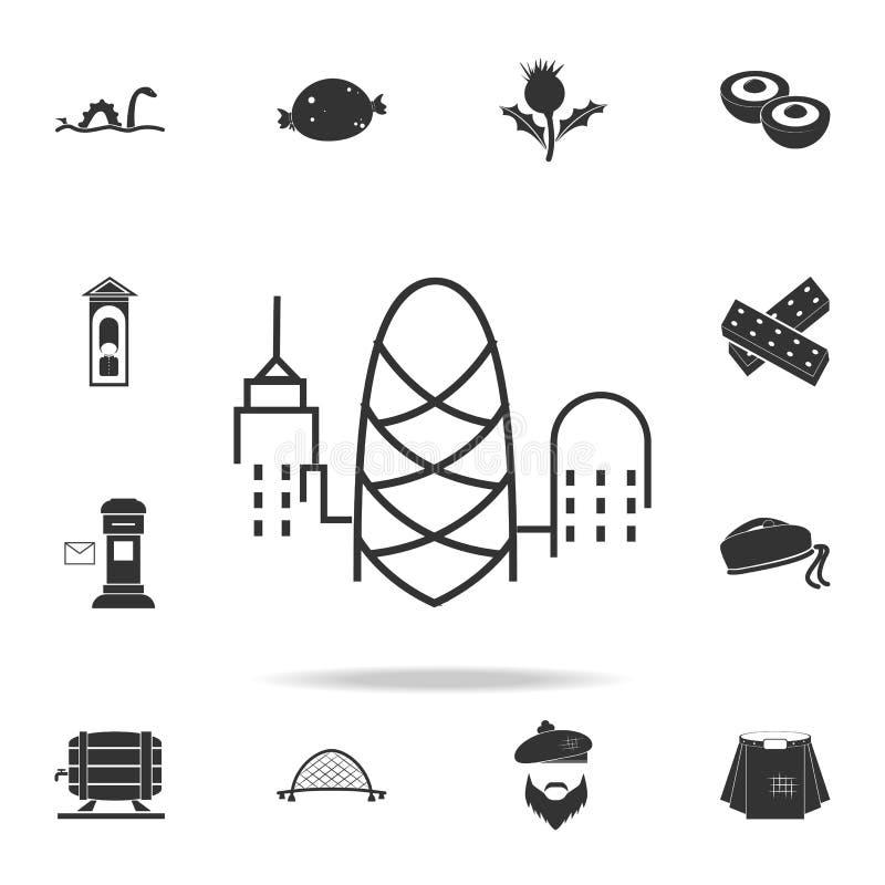 伦敦象都市风景  详细的套英国文化象 优质质量图形设计 一汇集象 库存例证