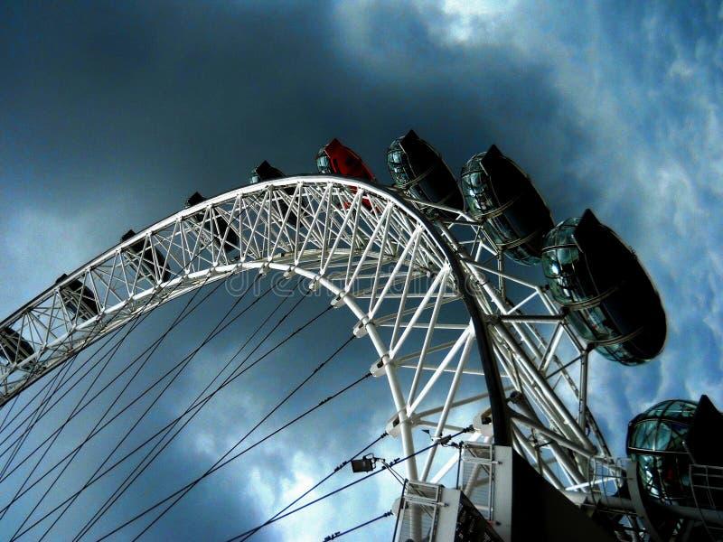 伦敦轮子的眼睛 免版税库存照片
