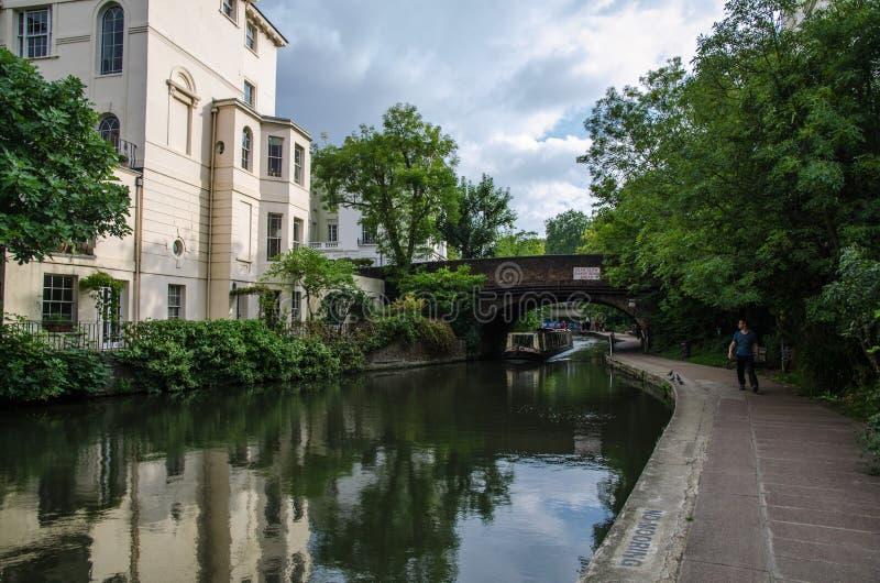 伦敦运河 库存图片