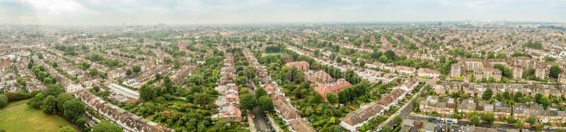 伦敦郊区鸟瞰图  库存照片