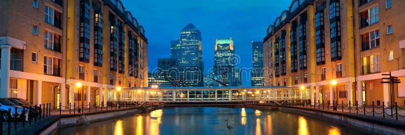 伦敦金丝雀码头 免版税图库摄影