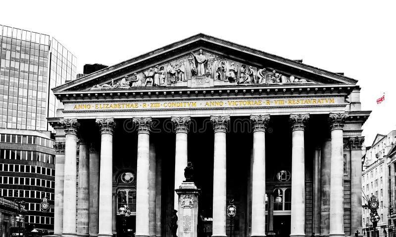 伦敦银行 免版税库存图片