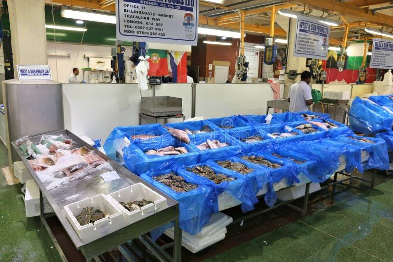 伦敦鱼市 库存图片