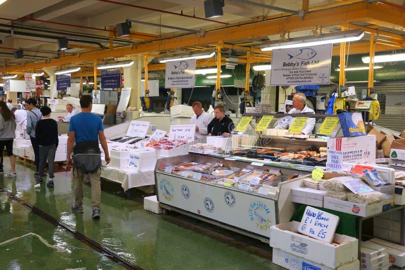 伦敦鱼市 库存照片