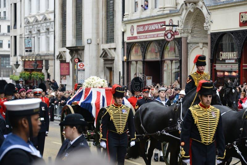 撒切尔男爵夫人的葬礼 图库摄影