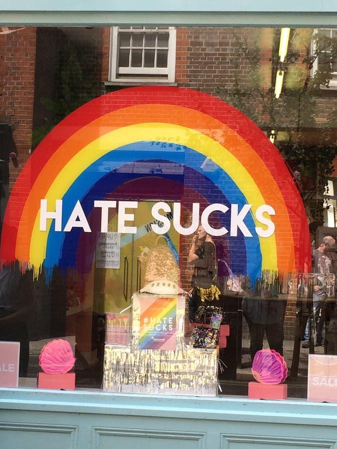 伦敦,英国,2015年7月7日伦敦自豪感商店前面 免版税图库摄影