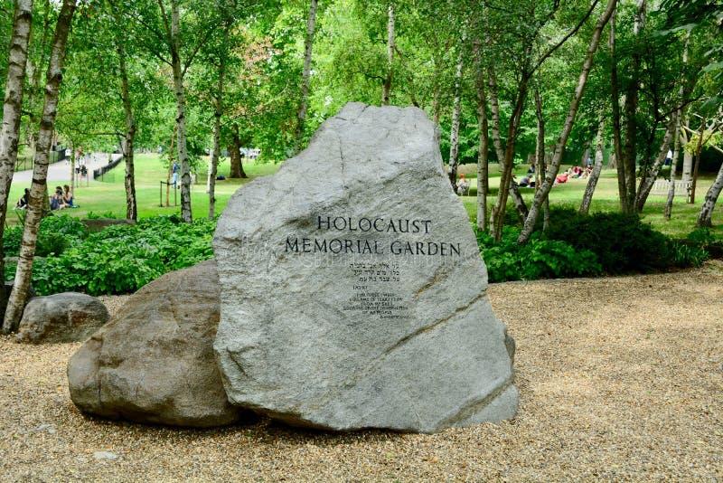伦敦,英国,2019年7月 浩劫纪念品在海德公园,伦敦 这是第一个公众纪念仪式在英国 免版税库存照片