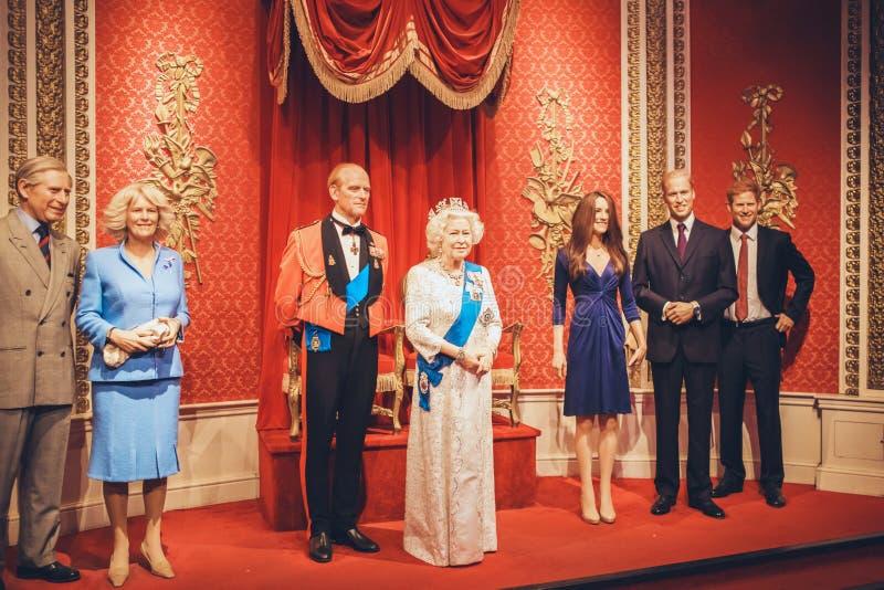 伦敦,英国- 2017年8月24日:杜莎夫人蜡象馆蜡mu 库存图片