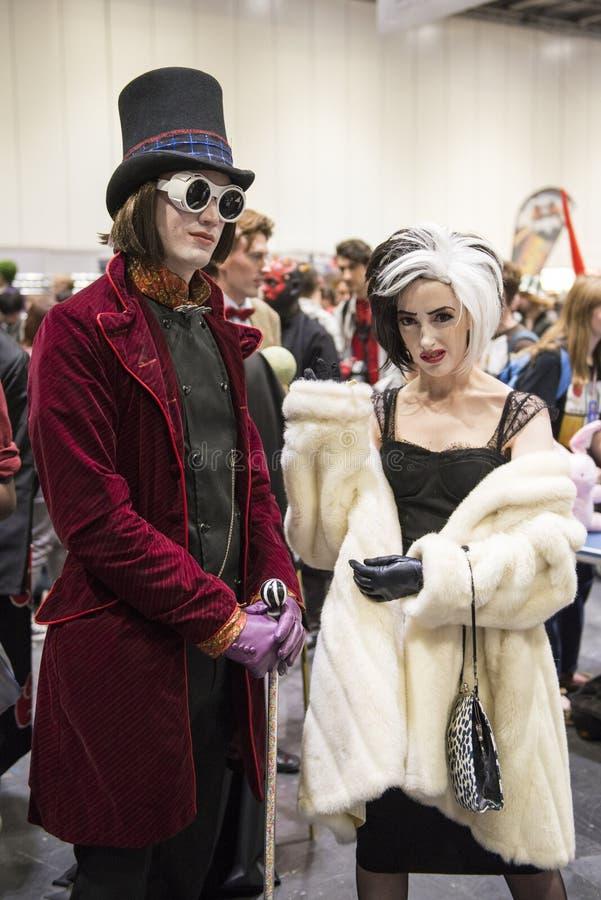 伦敦,英国- 10月26日:Cosplayers穿戴了作为从的查理 库存图片