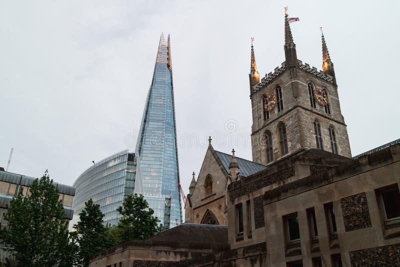 伦敦,英国- 05/11/2018:Southwark大教堂,有t的 免版税图库摄影