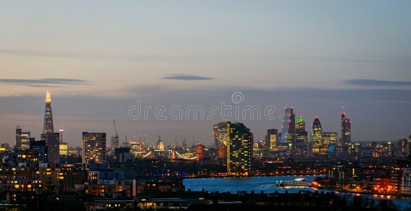 伦敦,从格林威治的地平线 图库摄影