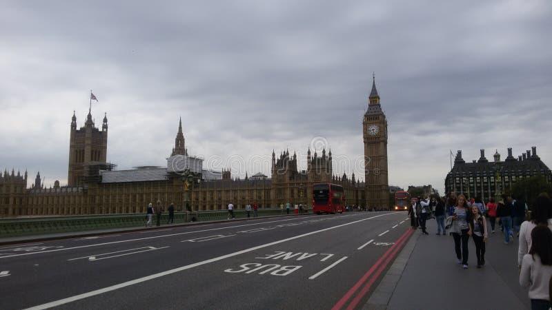 伦敦-光-大笨钟 免版税库存照片