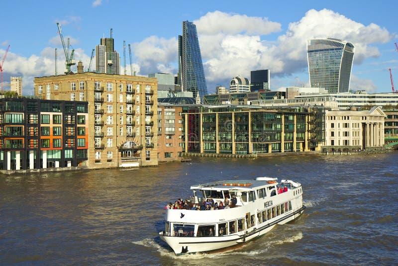 伦敦-北部银行都市风景,伦敦 免版税库存照片
