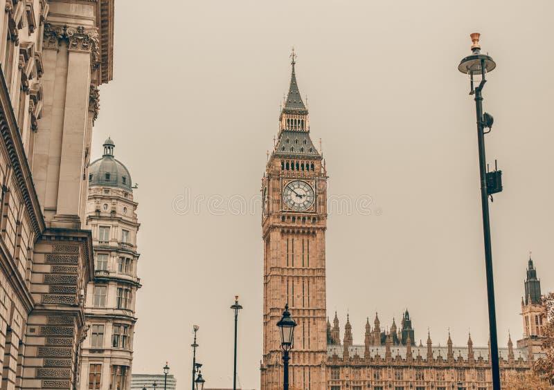 伦敦-大笨钟,英国 免版税库存图片