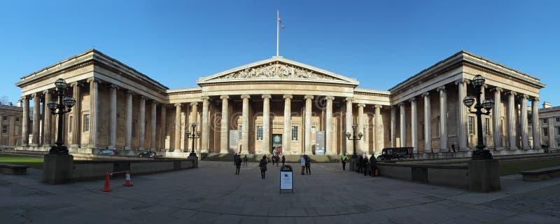 伦敦- 1月5 :大英博物馆在伦敦, 1月的英国 库存照片