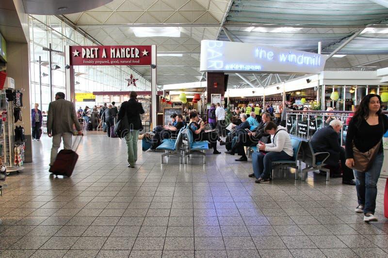 伦敦斯坦斯特德机场 库存图片