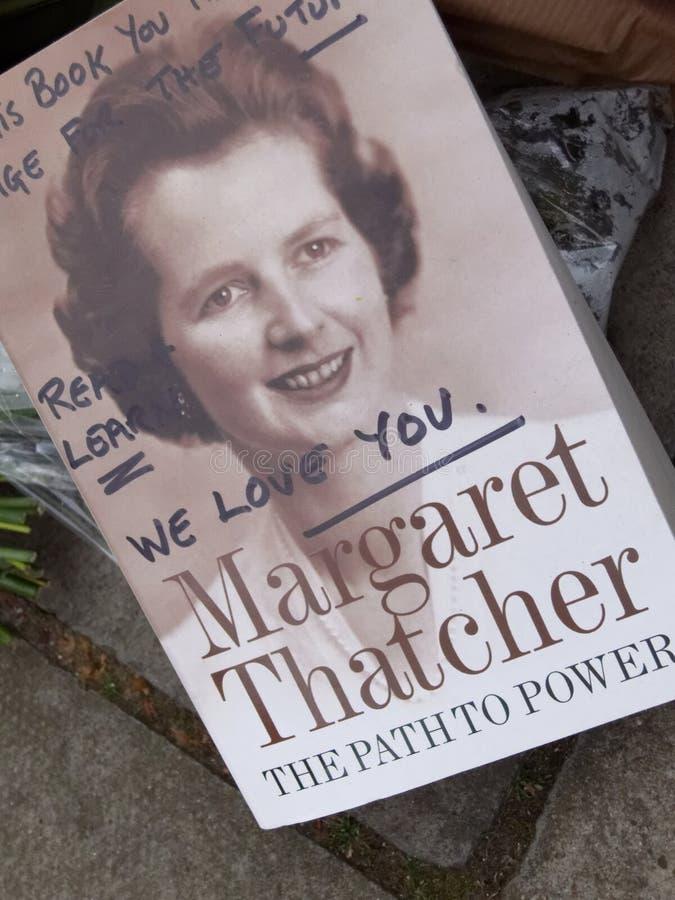 对Margaret撒切尔的尊敬 库存照片
