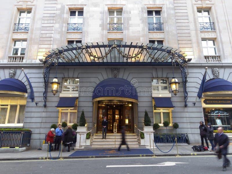Margaret撒切尔死了的Ritz旅馆 库存图片