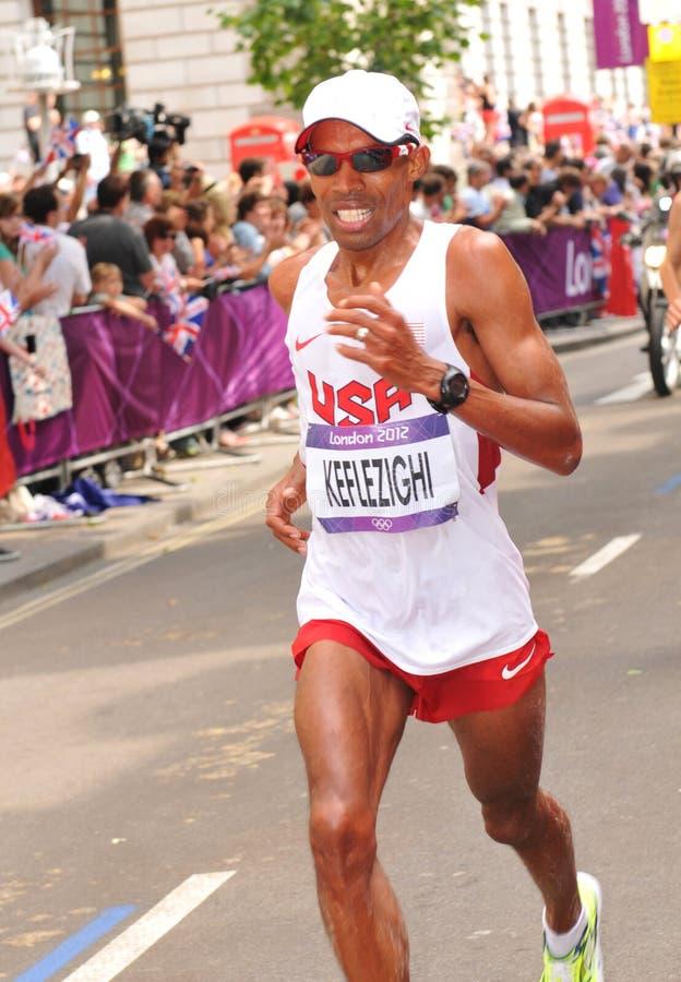 伦敦2012奥林匹克马拉松 免版税库存照片