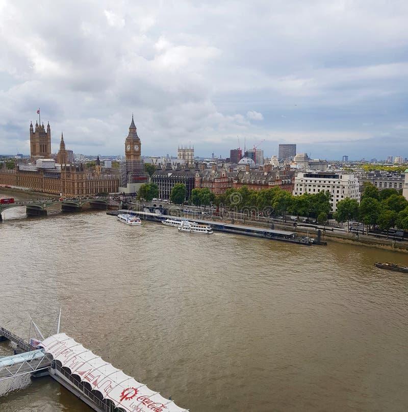 伦敦Arial视图 图库摄影