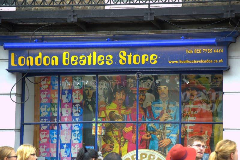 伦敦Beatles商店 免版税库存图片
