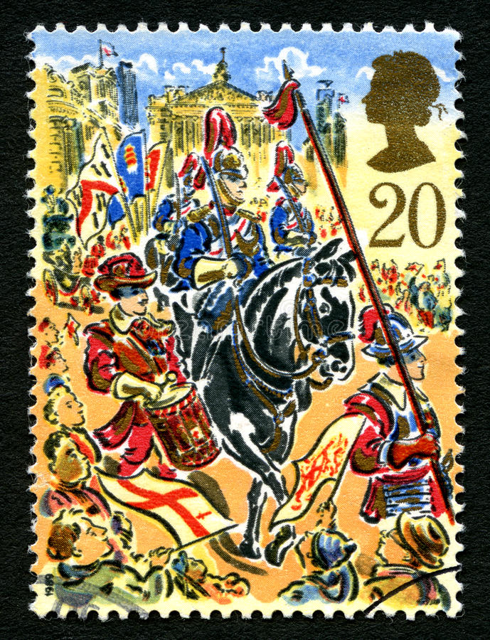 伦敦Festival UK Postage市长阁下邮票 图库摄影