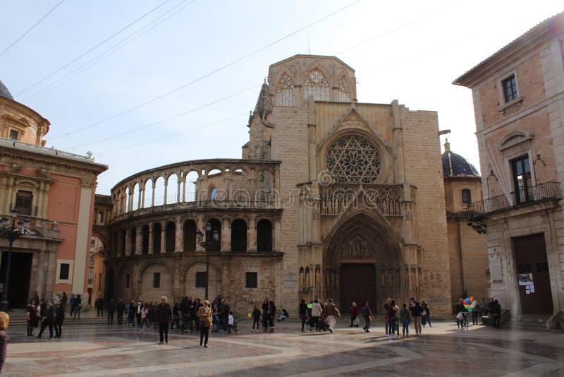 巴伦西亚大教堂 图库摄影
