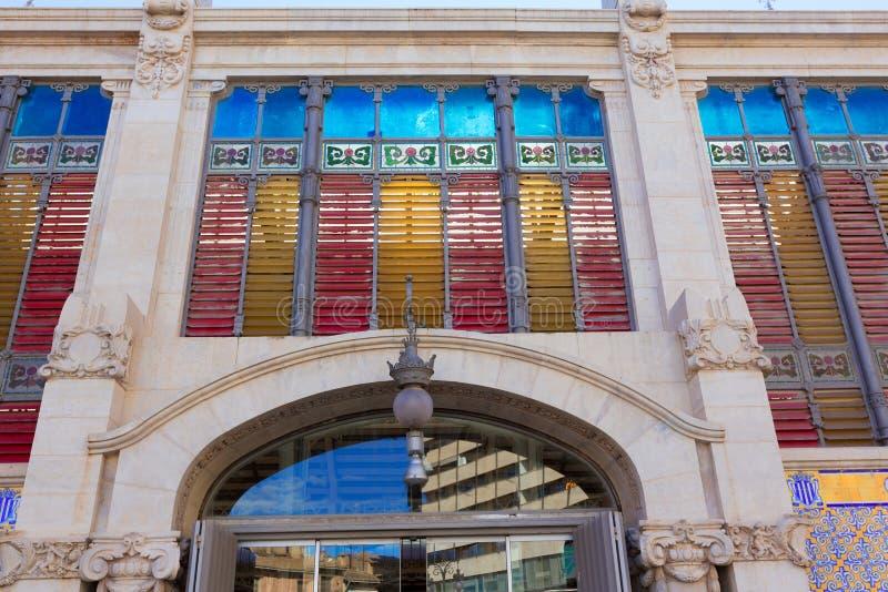 巴伦西亚梅尔卡多主要市场后方门面西班牙 库存图片