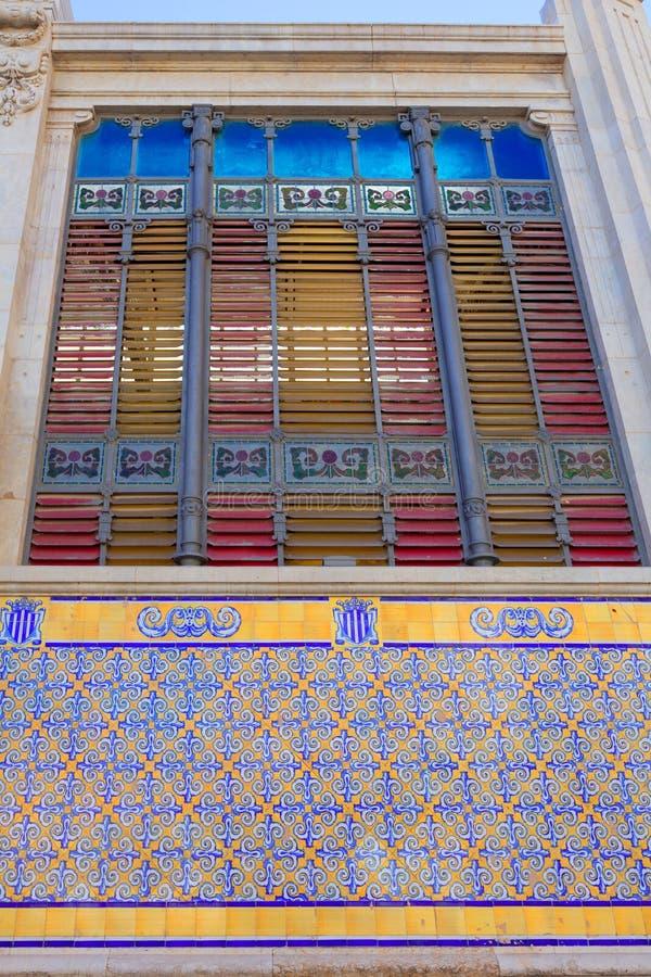 巴伦西亚梅尔卡多主要市场后方门面西班牙 免版税库存照片
