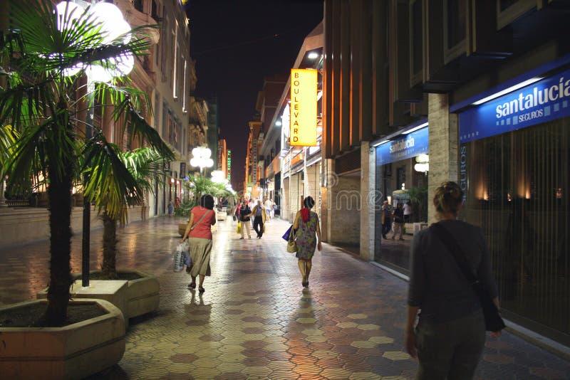 巴伦西亚购物夜 免版税库存图片