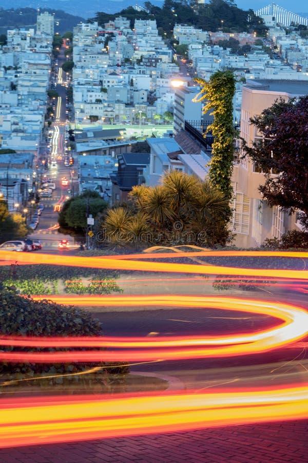 伦巴第街道在晚上 图库摄影