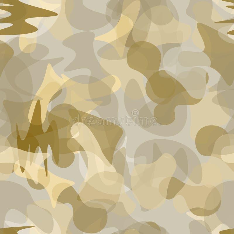 伪装无缝的样式 军事伪装 向量例证