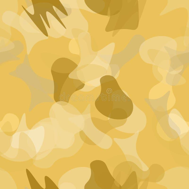伪装无缝的样式 军事伪装 库存例证