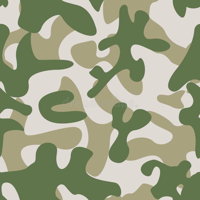 伪装无缝的样式 摘要现代军事Backgound 库存例证