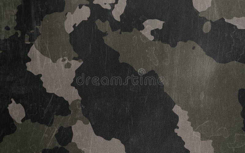伪装样式布料纹理 设计的背景和纹理 库存例证