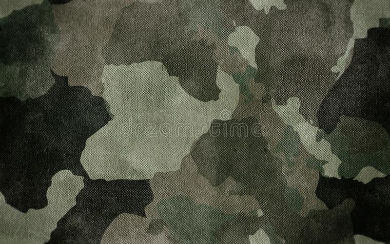 伪装样式布料纹理 设计的背景和纹理 向量例证