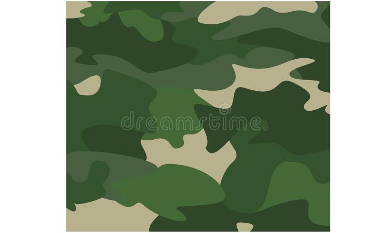 伪装背景绿色军事样式 皇族释放例证