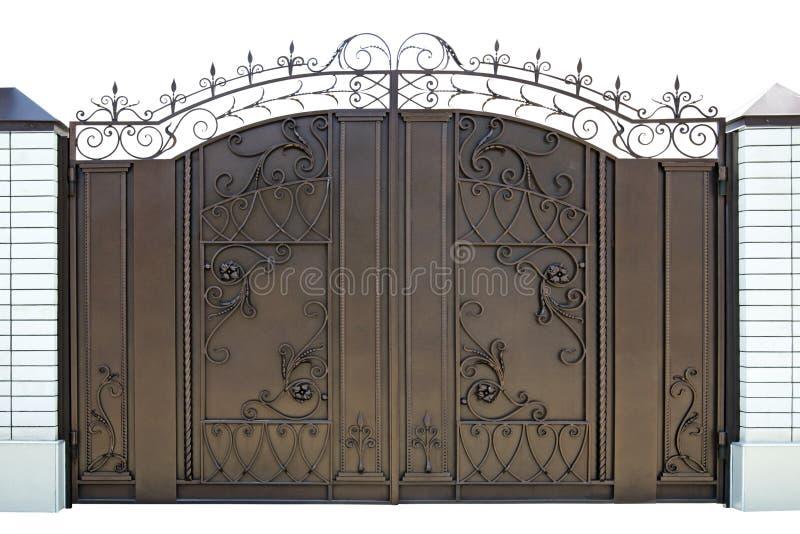 伪造的装饰门。 库存图片