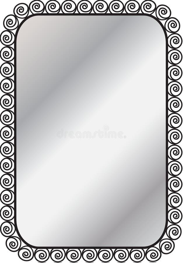 伪造的镜子框架 免版税库存图片